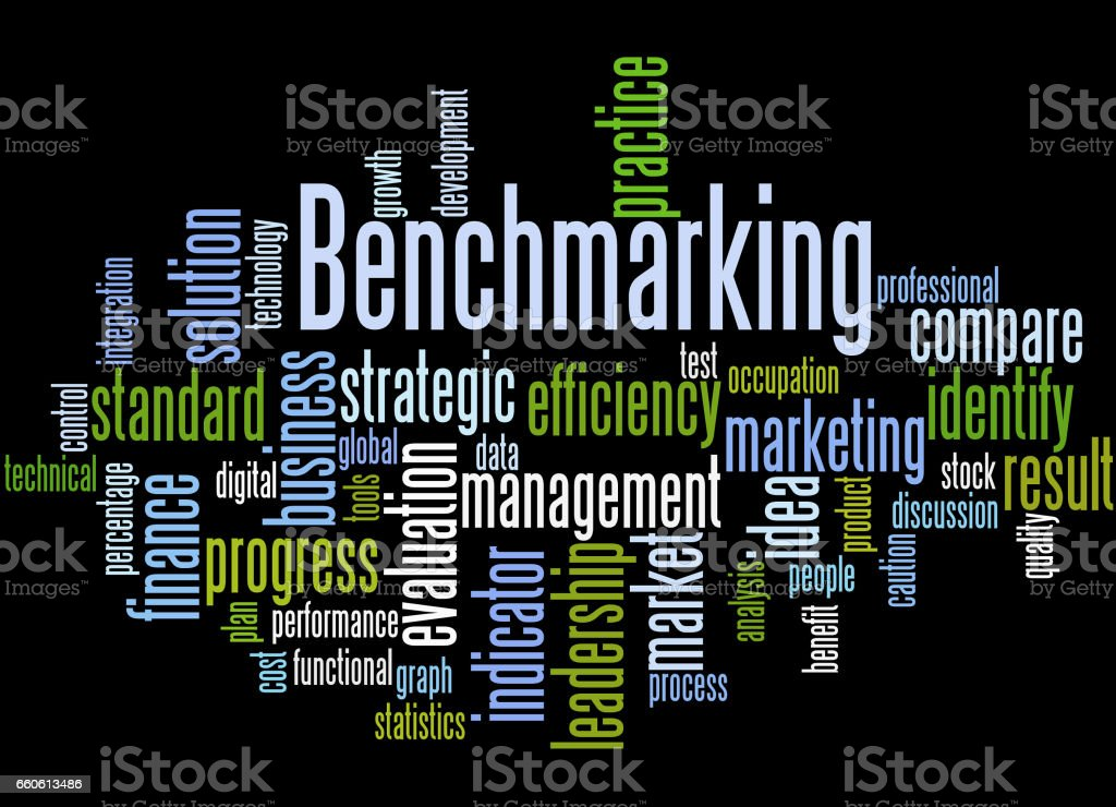 Benchmarking, word cloud concept 4 royalty-free benchmarking word cloud concept 4 stock vector art & more images of business
