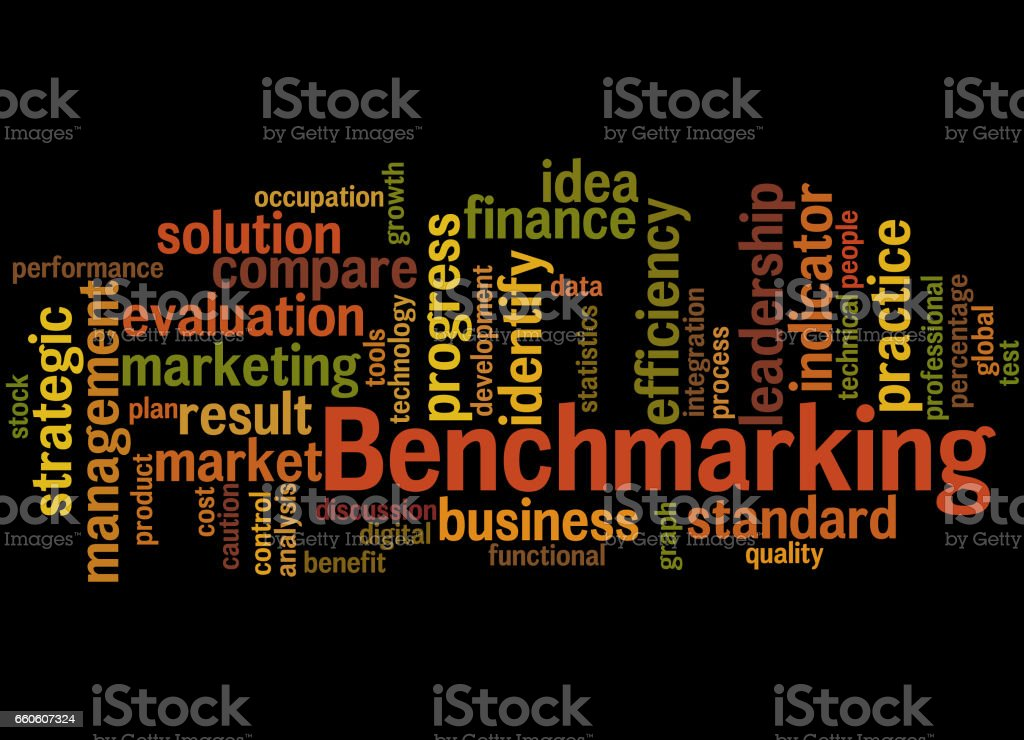 Benchmarking, word cloud concept 6 royalty-free benchmarking word cloud concept 6 stock vector art & more images of business