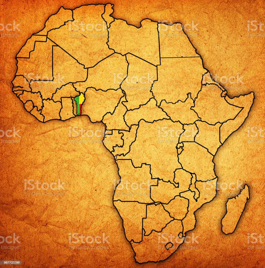 Benin Territory On Political Map Of Africa Stock Vector Art & More ...