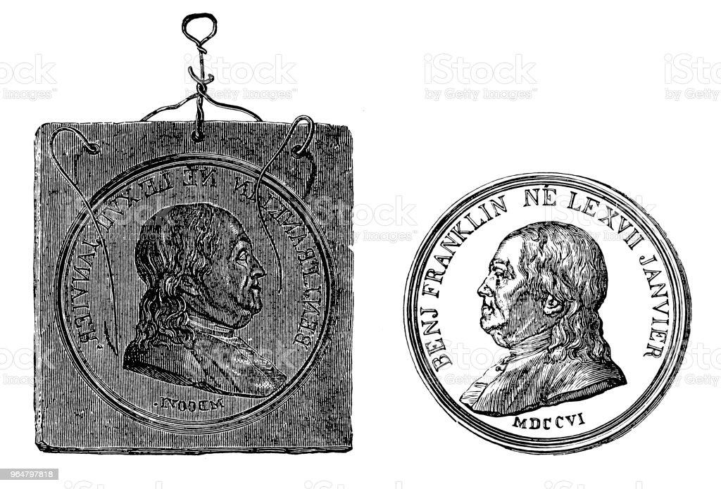 Benjamin Franklin coin mold for electroplating royalty-free benjamin franklin coin mold for electroplating stock illustration - download image now