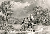 Benjamin Franklin Flies a Kite During at Thunderstorm, June 1752