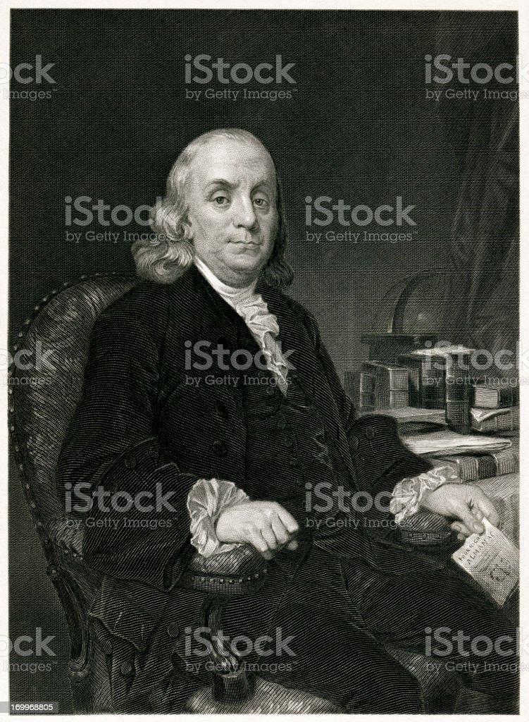 Benjamin Franklin vector art illustration