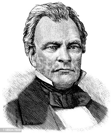 Engraving from 1886 showing the Ohio Senator, Benjamin Wade.