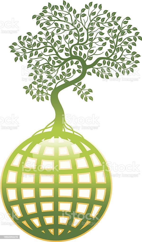 Dobrados árvore mundo. ilustração de dobrados árvore mundo e mais banco de imagens de flora royalty-free