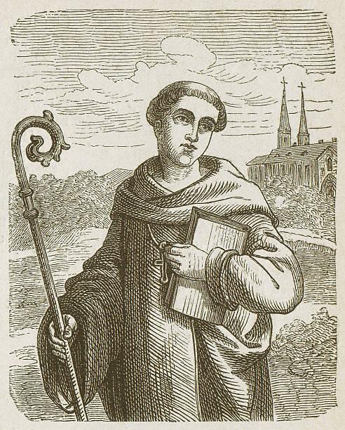 ilustraciones, imágenes clip art, dibujos animados e iconos de stock de bernard clairvaux de 1.090 – 1153 - hermano