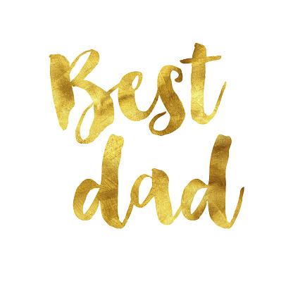 Best dad gold foil message