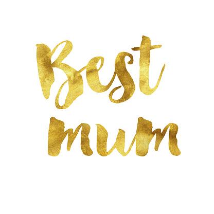 Best mum gold foil message