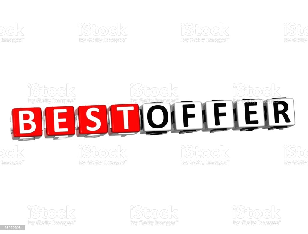 3D Best Offer Button Click Here Block Text royalty-free 3d best offer button click here block text stock vector art & more images of abstract