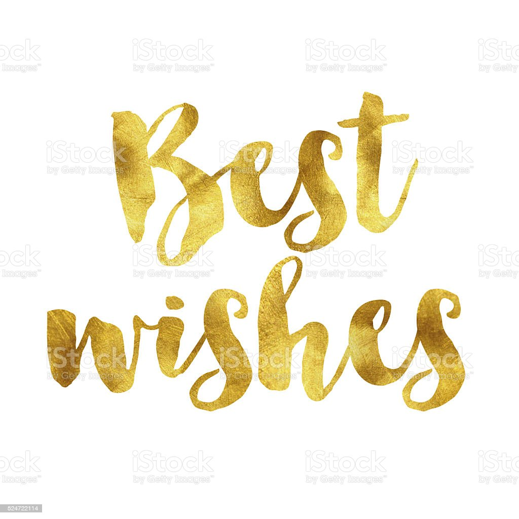 Best Wishes Gold Foil Message Stock Vector Art & More