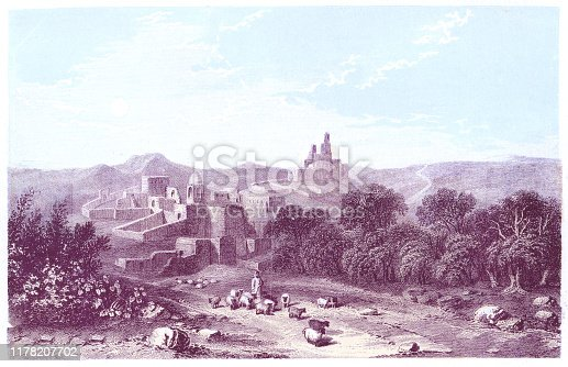istock Bethany in the West Bank, Palestine - Ottoman Empire 19th Century 1178207702