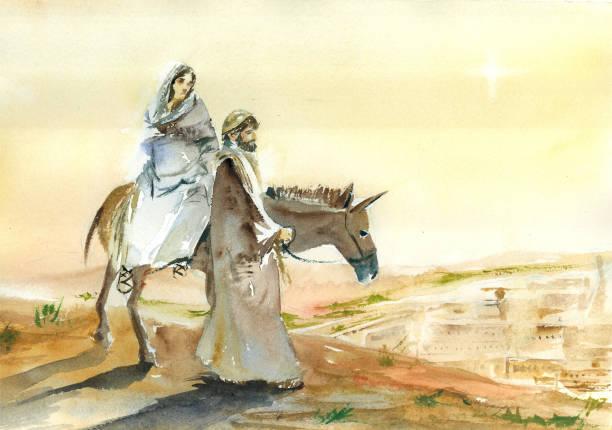 ilustrações de stock, clip art, desenhos animados e ícones de bethelem arrival - jesus cristo