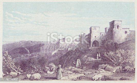 istock Bethlehem in the West Bank, Palestine - Ottoman Empire 19th Century 1178206932
