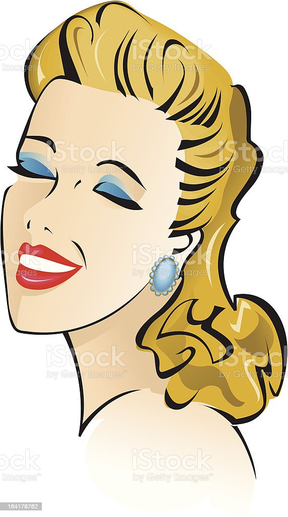 Bettie vector art illustration