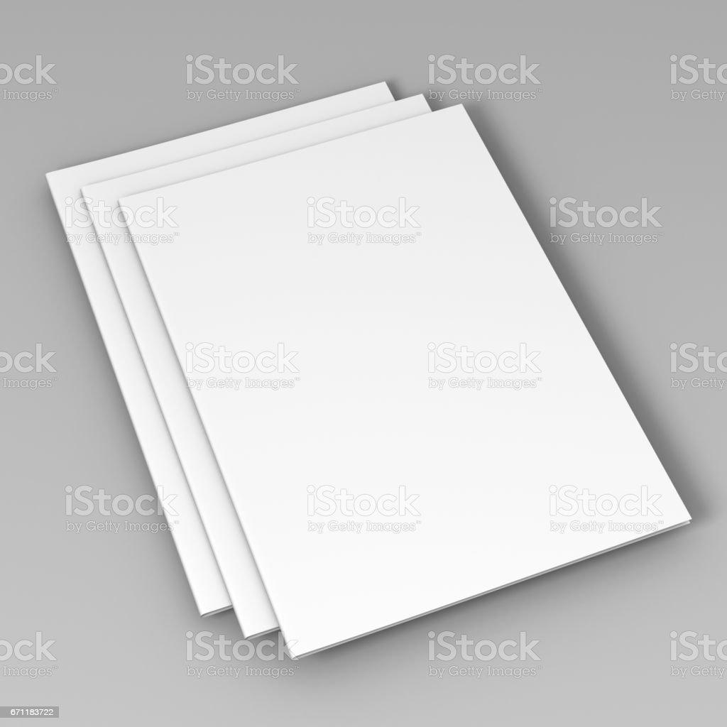 A4 A5 Bi Fold Brochure Flyer Template 3d Rendering For Mock Up Stock
