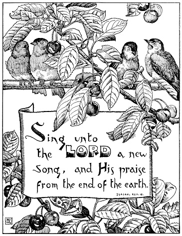 Bible extract with birds and cherries