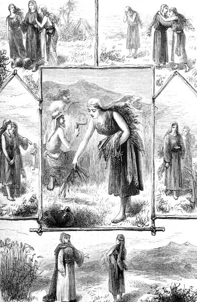 bible: the story of ruth - ruth stock illustrations