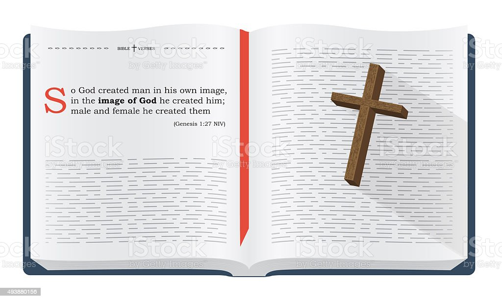 Bible verses about mankind creation vector art illustration