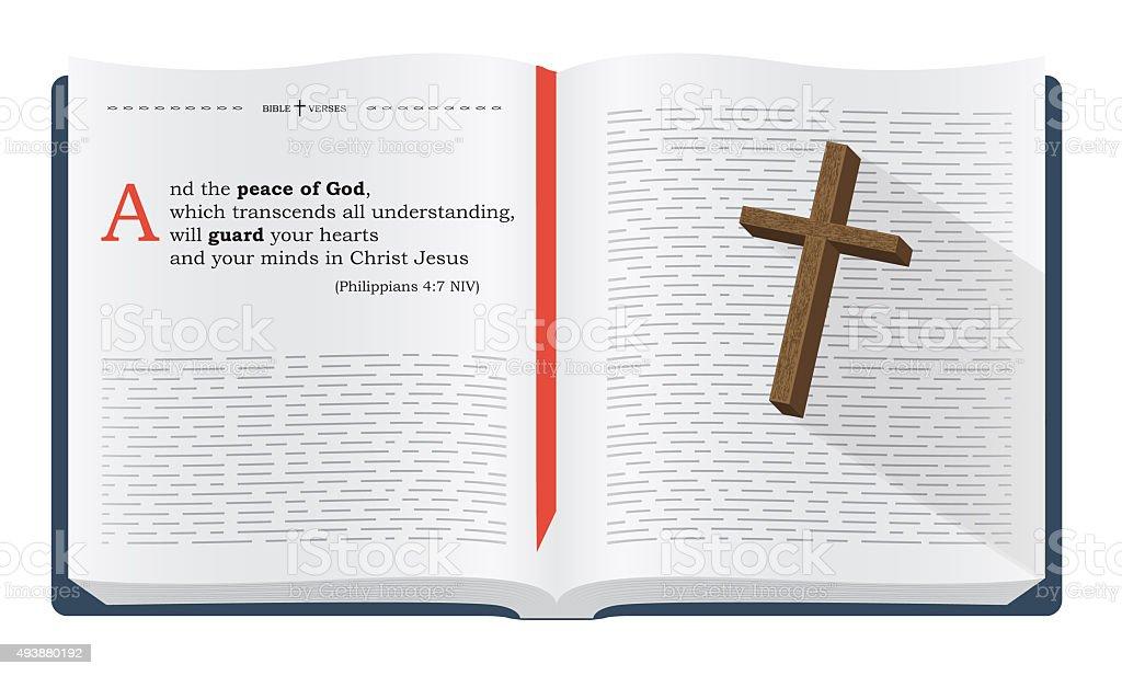 Bible verses vector art illustration