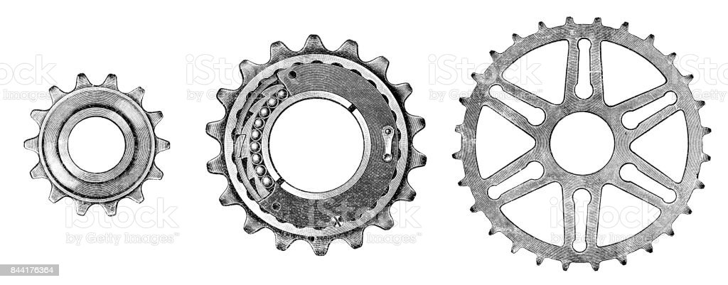 Bicycle gear vector art illustration