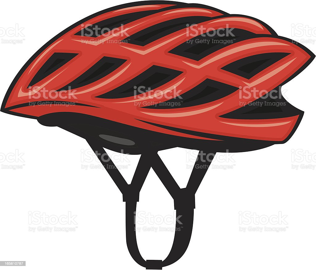 bicycle helmet vector art illustration