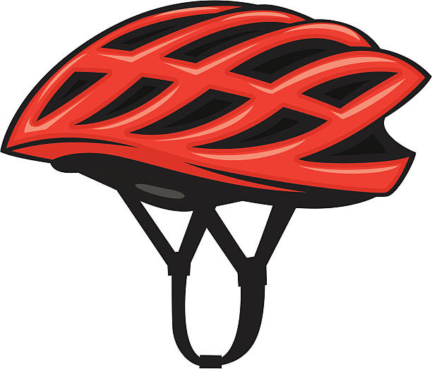 bicycle helmet vector art illustration