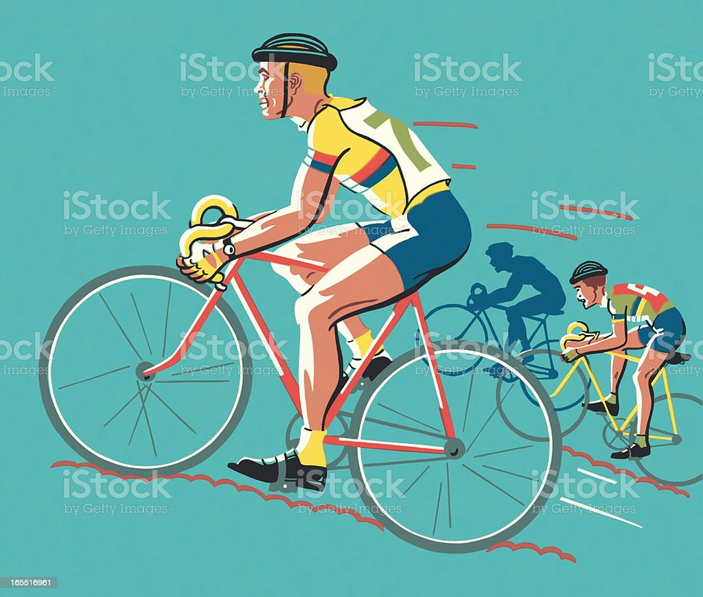 Bicycle Race royalty-free stock vector art