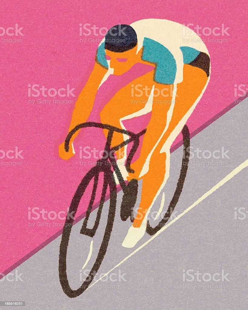 Bicycle Racer vector art illustration