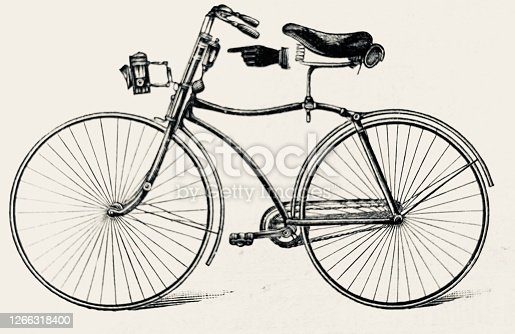 In comparison to the dangerous penny farthing bicycle with many serious injuries the newly developed bicycle with evenly low wheels was called safety bicycle. The first bicycle to be called a