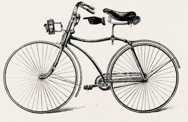 bildbanksillustrationer, clip art samt tecknat material och ikoner med cykel med smörjoljetillförsel. om du smörjer bra, kör du bra. - chain studio