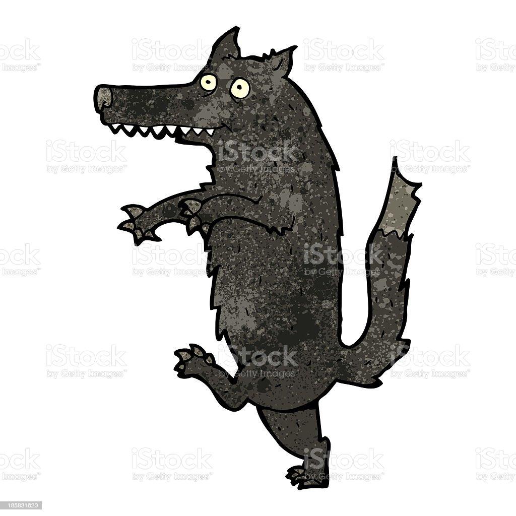 big bad wolf cartoon royalty-free stock vector art