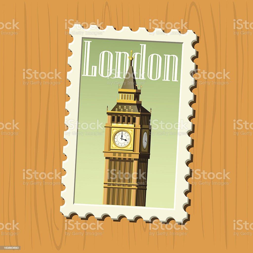 Big Ben stamp royalty-free stock vector art