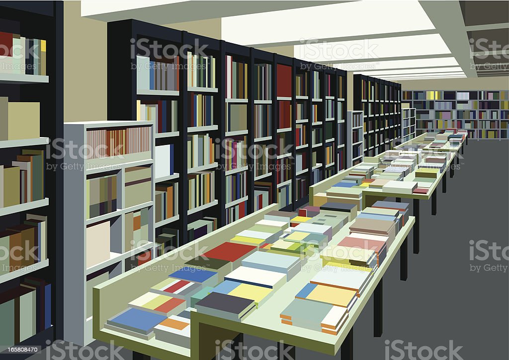 big bookstore royalty-free stock vector art