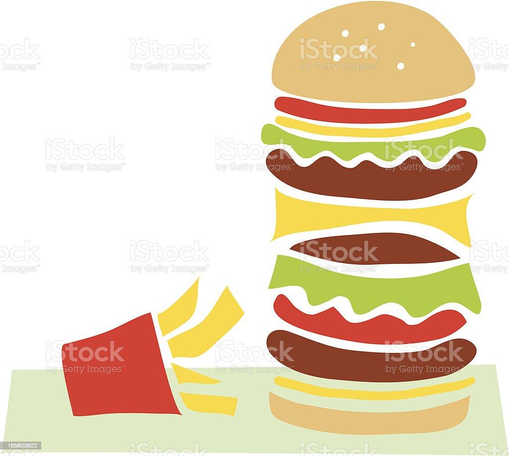 Big Burger royalty-free stock vector art
