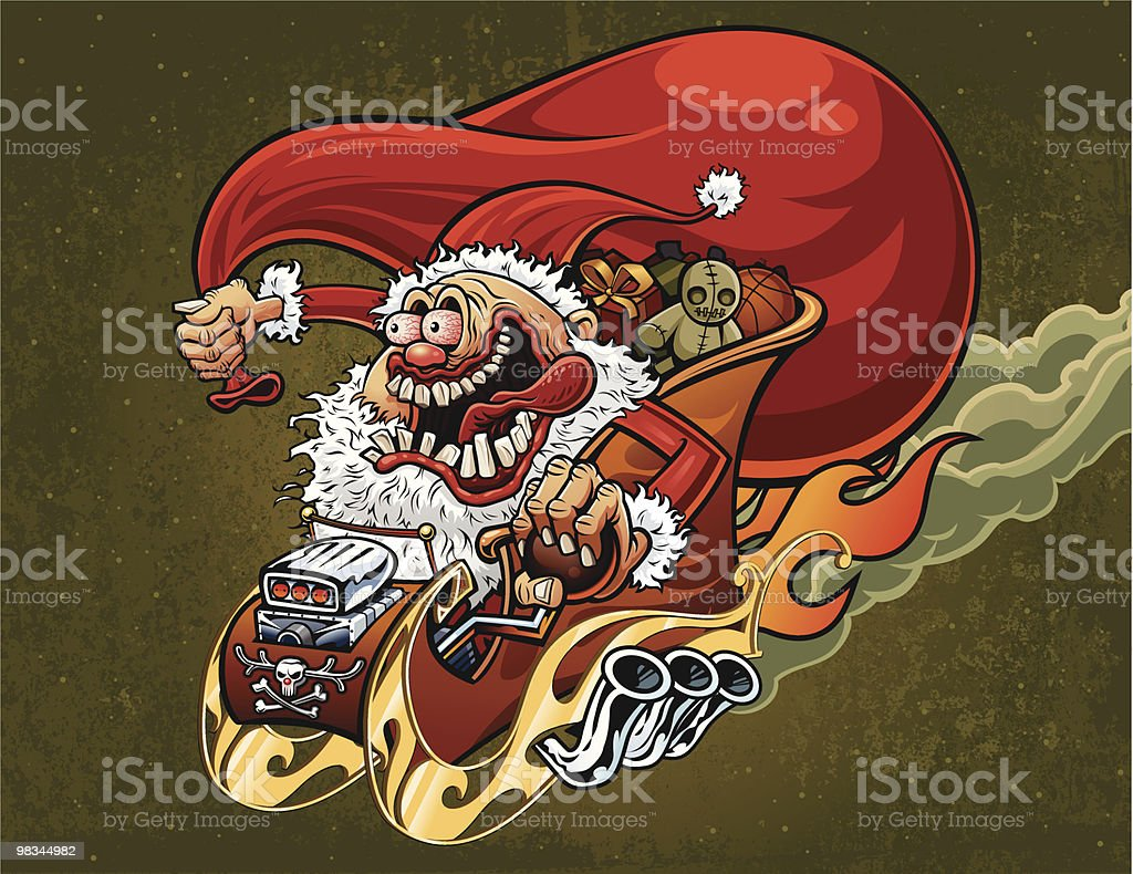 Big Daddy Claus royalty-free big daddy claus stock vector art & more images of bag