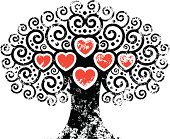 Big grunge heart tree.