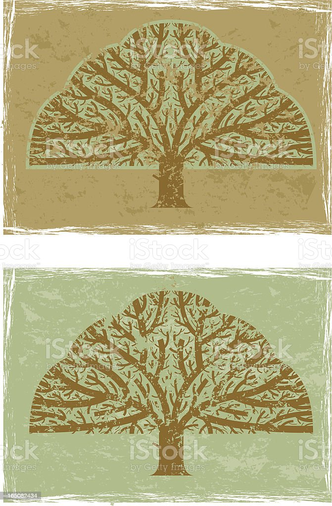 Big grunge tree royalty-free stock vector art