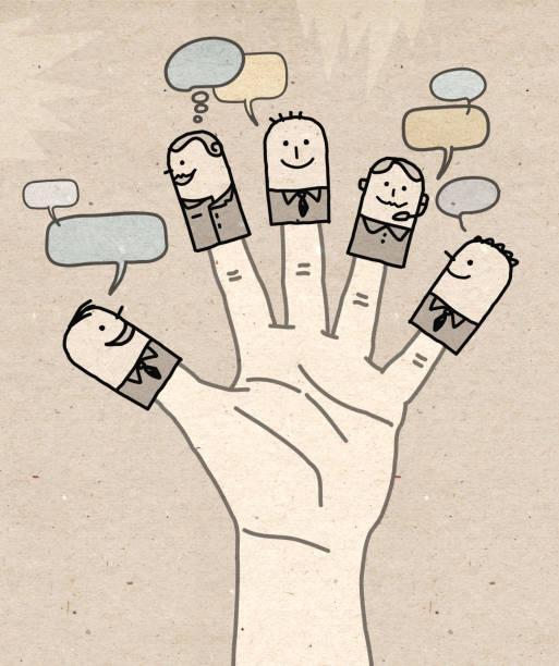illustrazioni stock, clip art, cartoni animati e icone di tendenza di big hand - social business network - mano donna dita unite
