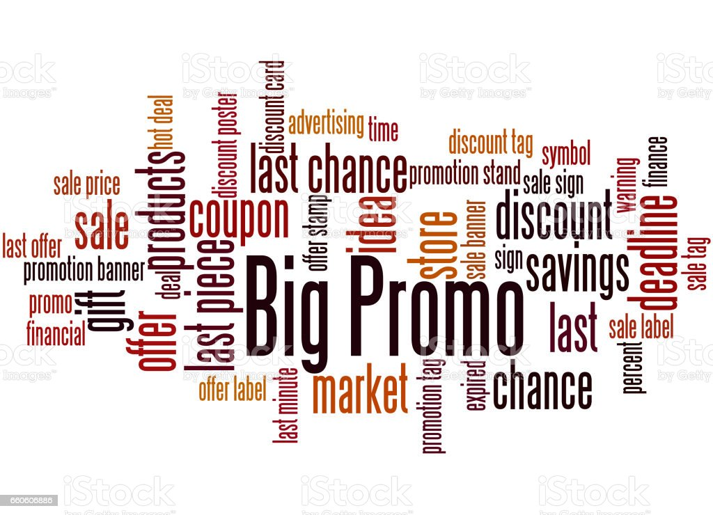 Big Promo, word cloud concept 9 royalty-free big promo word cloud concept 9 stock vector art & more images of business
