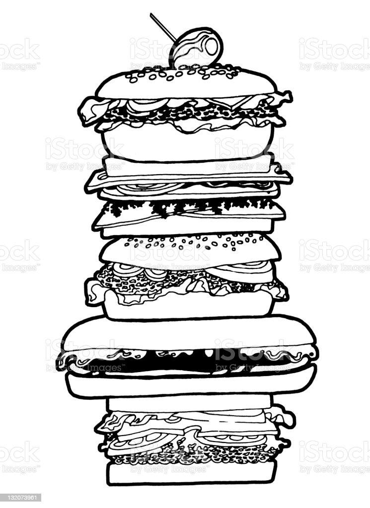 Big Sandwich royalty-free stock vector art