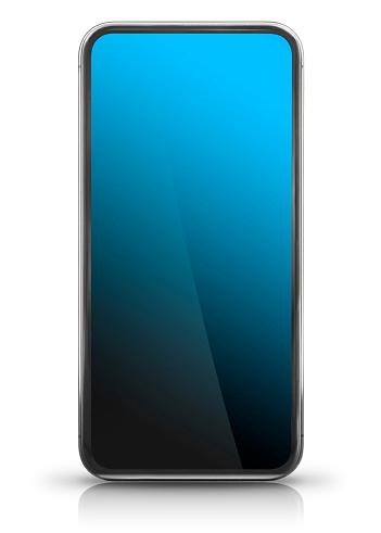 Big Screen Modern Smart Phone Front View