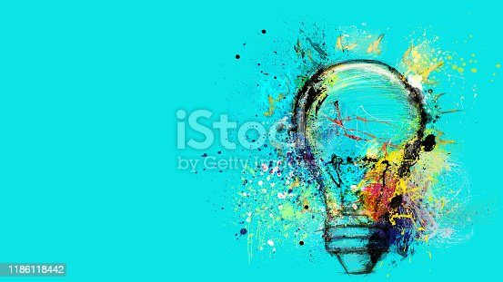 Banner concept of innovation, creativity and imagination