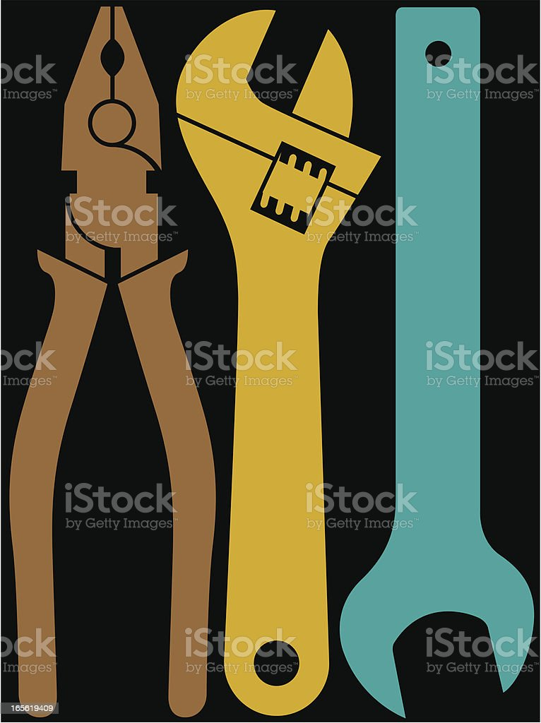 Big tools royalty-free stock vector art