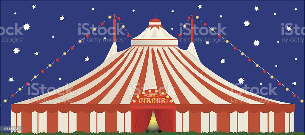 big top by night royalty-free stock vector art