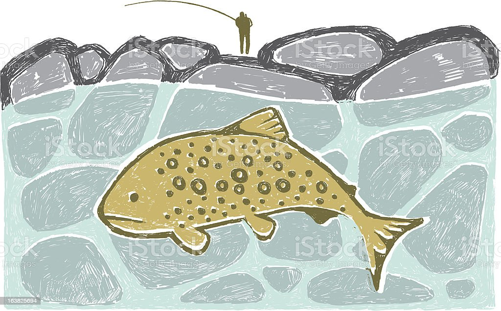 Big Trout royalty-free stock vector art