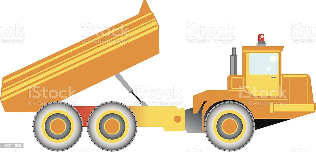 Big truck for highway construction royalty-free stock vector art