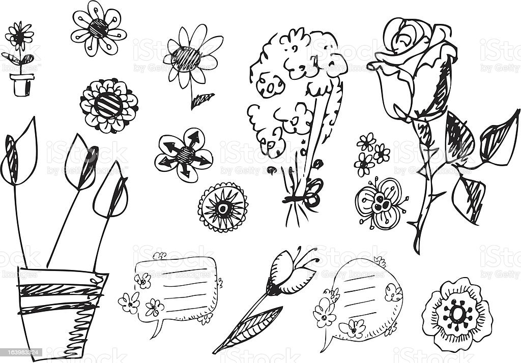 big vector set - flowers royalty-free big vector set flowers stock vector art & more images of bouquet