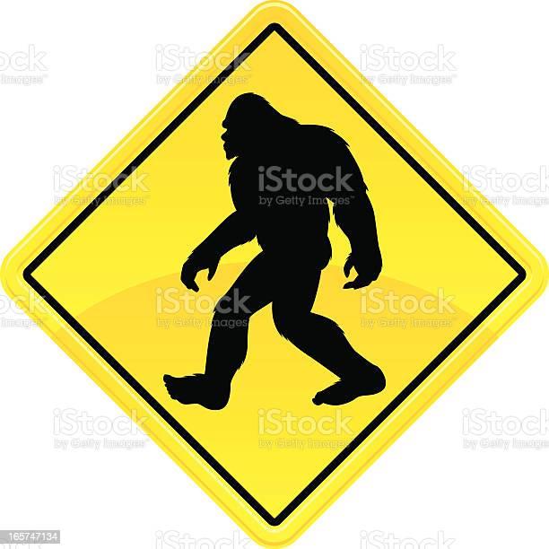 Bigfoot crossing sign illustration id165747134?b=1&k=6&m=165747134&s=612x612&h=zktzqm6qwfrebhknzu3pqhjwddo9zmt9apq4myybb0k=