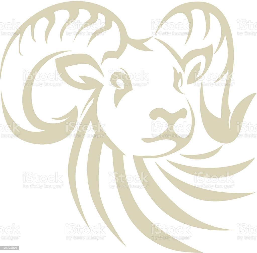Bighorn Sheep Ram vector art illustration