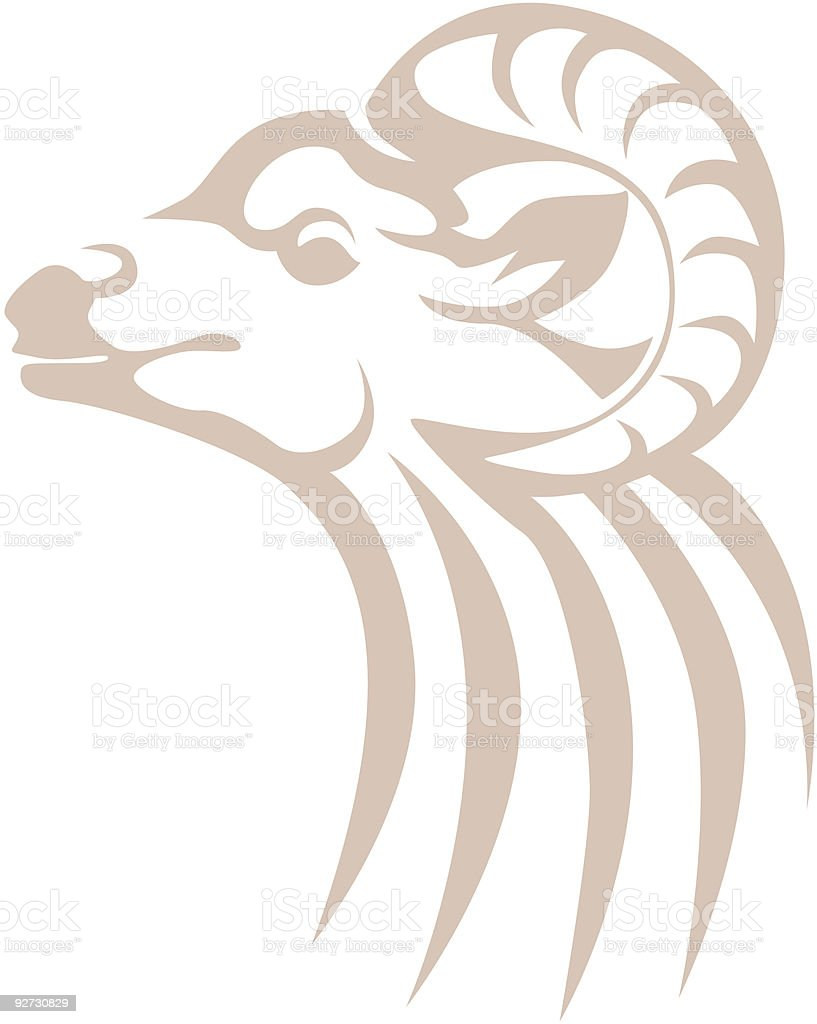 Bighorn Sheep Ram royalty-free stock vector art