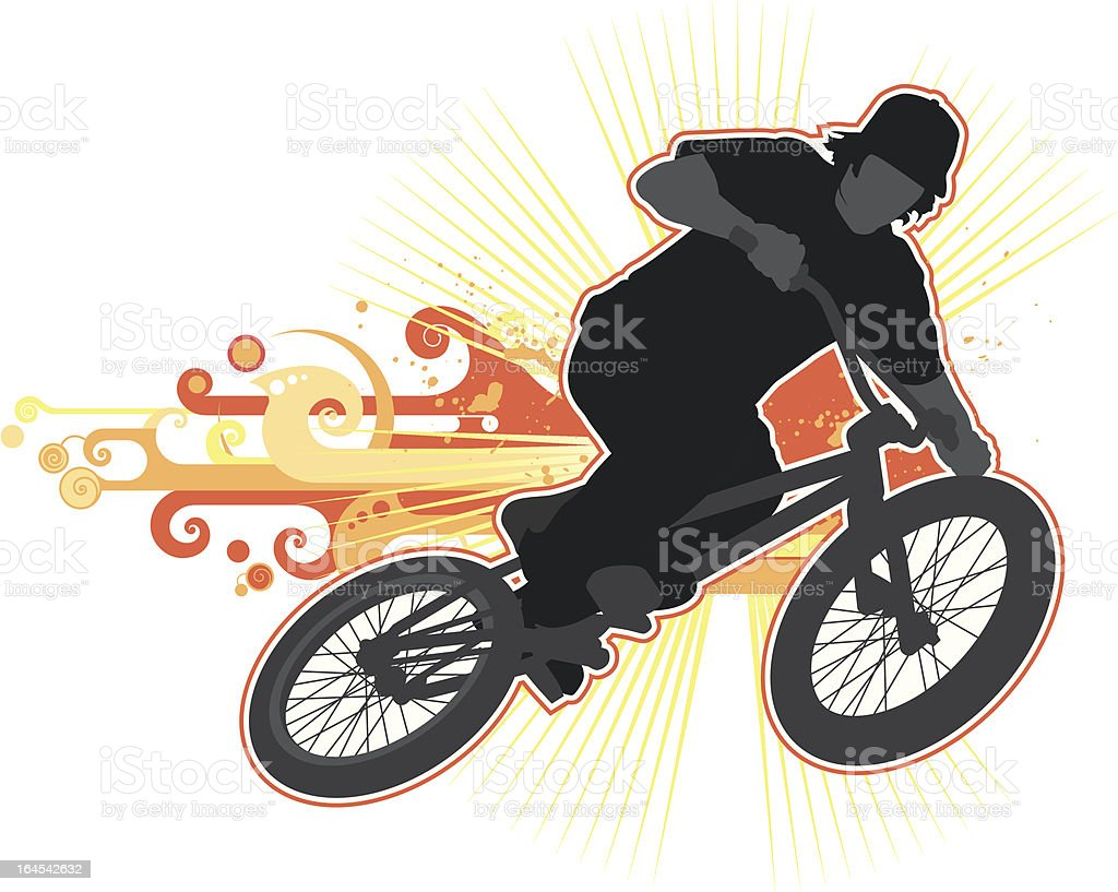 Bike rider vector art illustration